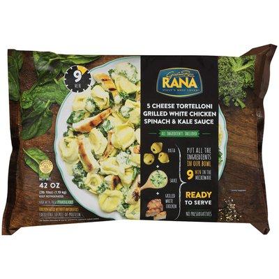 Giovanni Rana 5 Cheese Grilled White Chicken Spinach & Kale Sauce Tortelloni