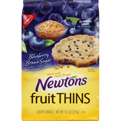 Newtons Cookies, Crispy, Blueberry Brown Sugar