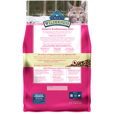 Blue Buffalo Wilderness High Protein, Natural Adult Dry Cat Food, Salmon