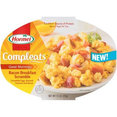 Hormel Good Mornings Bacon Breakfast Scramble Compleats