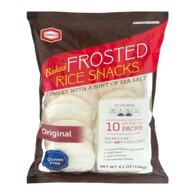 Kameda Baked Frosted Rice Snacks Original On-The-Go packs - 10 PK