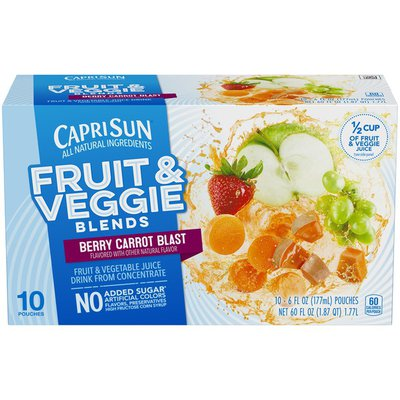 Capri Sun Fruit & Veggie Blends Berry Carrot Blast Juice Drink