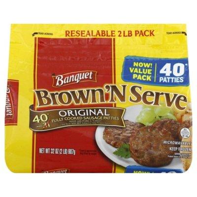 Banquet Brown N Serve Original Sausage Patties