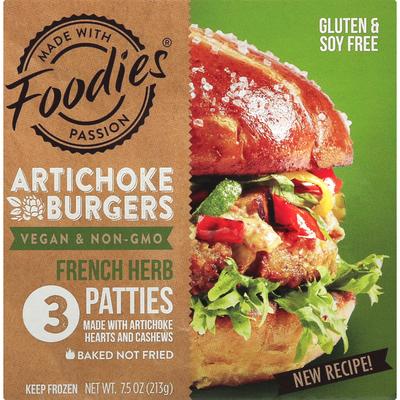 Foodies Artichoke Burgers, French Herb