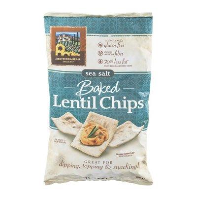 Mediterranean Snack Food Co Lentil Chips Baked Sea Salt