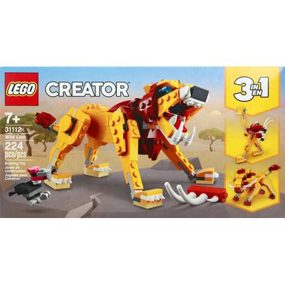 LEGO Building Toy, Wild Lion, 224 Pieces, 7+