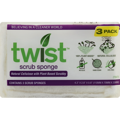 Twist Scrub Sponge, 3 Pack