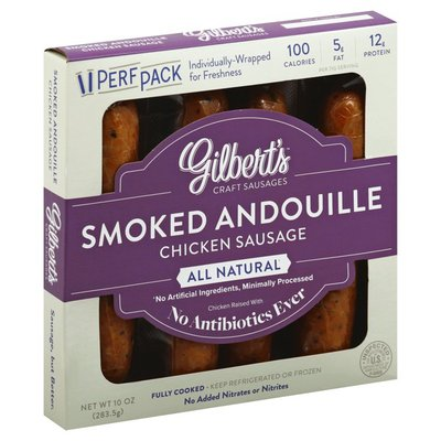 Gilbert's Sausage, Chicken, Smoked Andouille