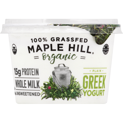 Maple Hill Yogurt, Organic, Greek, Plain