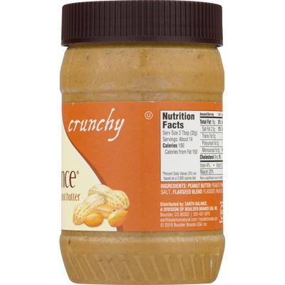 Earth Balance Peanut & Flaxseed Spread, Crunchy