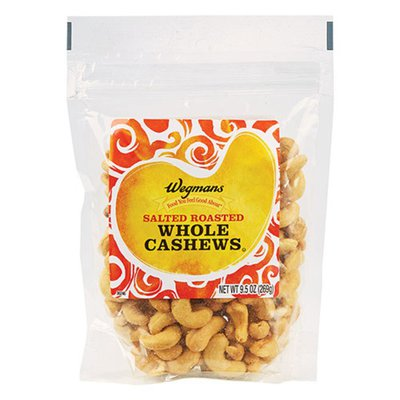 Wegmans Food You Feel Good About Salted Roasted Whole Cashews