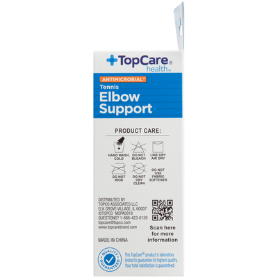 TopCare Antimicrobial Moderate Tennis Elbow Support, One Size