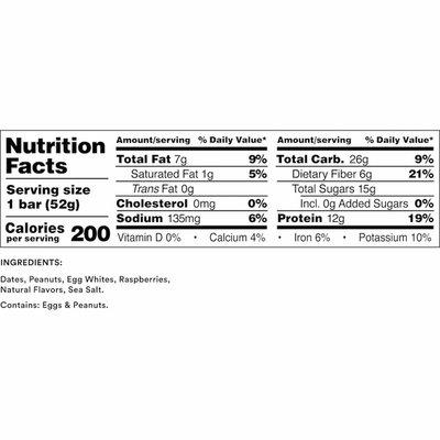 RXBAR Protein Bar, 12g Protein, Peanut Butter & Berries