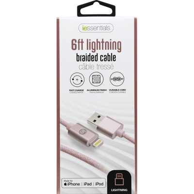 iessentials Braided Cable, 6 Feet Lightning
