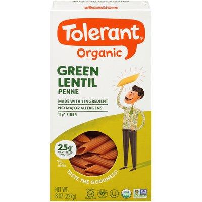 Tolerant Organic Green Lentil Penne Pasta