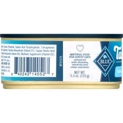 Blue Buffalo Tastefuls Natural Pate Wet Cat Food, Chicken Entrée