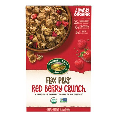 Nature's Path Flax Plus Red Berry Crunch Cereal