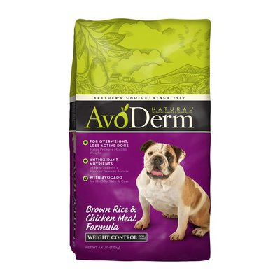 AvoDerm Dog Food, Lite Adult, Brown Rice, Oatmeal & Chicken Meal Formula