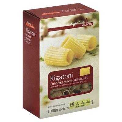 Signature Kitchens Rigatoni, Enriched Macaroni Product