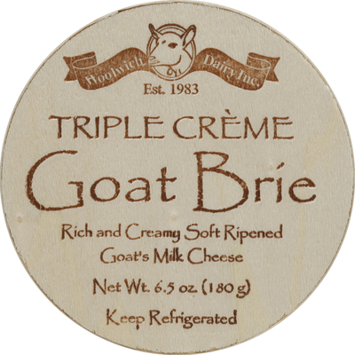 Woolwich Dairy Inc. Cheese, Triple Creme Goat Brie