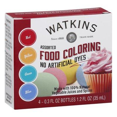 Watkins Food Coloring, Assorted