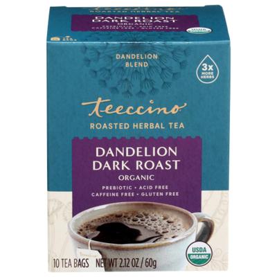 Teeccino Dandelion Dark Roast Roasted Herbal Tea