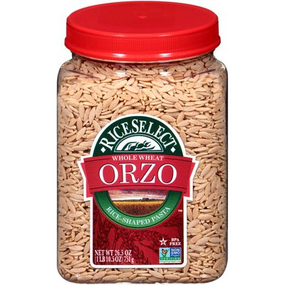 RiceSelect Whole Wheat Orzo Rice-Shaped Pasta