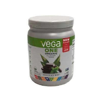 Vega Chocolate Mint Flavor One Organic All-in-one Shake Plant Based Protein Powder