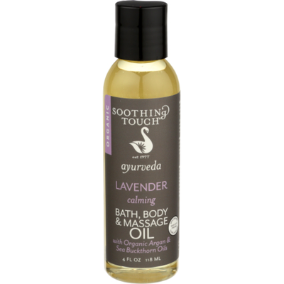 Soothing Touch Organic Lavender Calming Bath Body & Massage Oil