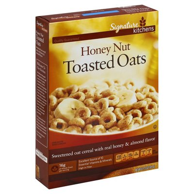 Signature Select Honey Nut FLAVORED Toasted OATS Sweetened Oat Cereal With Real Honey & Natural Almond Flavor