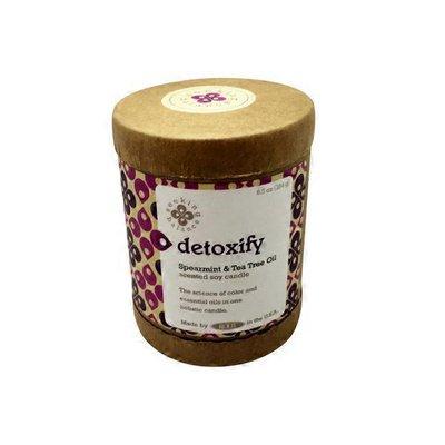 Root Candles Seeking Balance Detoxify Spearmint & Tea Trea Oil Glass Candle