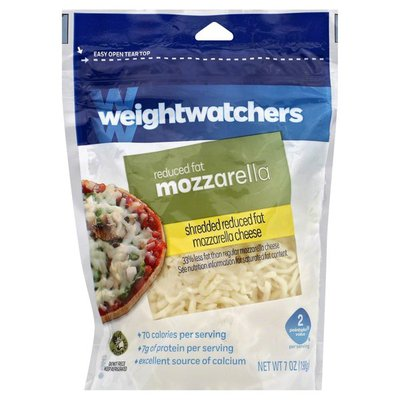 Weight Watchers Mozzarella, Shredded, Reduced Fat, Pouch