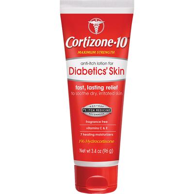 Cortizone 10 Anti-Itch Lotion, for Diabetics' Skin, Maximum Strength