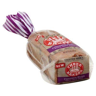 Three Bakers Bread, Whole Grain, Cinnamon Raisin