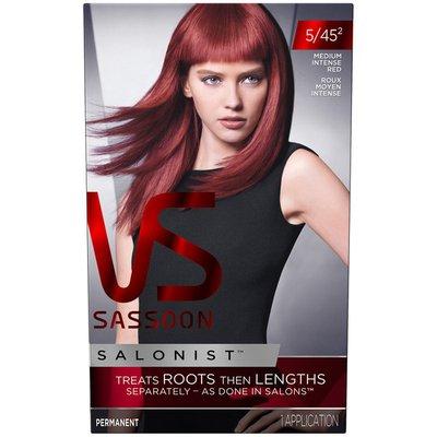 Vidal Sassoon Salonist Permanent 4/45 2 Medium Intense Red Female Hair Color
