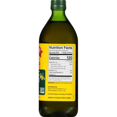 Bragg Olive Oil, Organic, Extra Virgin