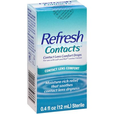 Refresh Contacts Contact Lens Comfort Eye Drops
