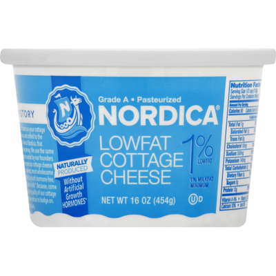 Nordica Cottage Cheese, Lowfat
