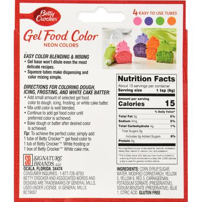 Betty Crocker Gel Food Color, Neon Colors