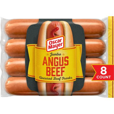 Oscar Mayer Jumbo Angus Beef Uncured Beef Franks Hot Dogs
