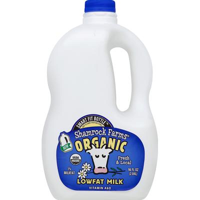 Shamrock Farms Milk, Organic, Lowfat, 1% Milkfat