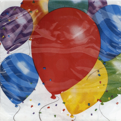 Party Creations Napkins Balloon Blast 12 7/8in x 12 3/4in