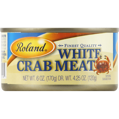 Roland Foods Crab Meat, White