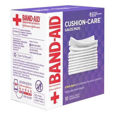 Band-Aid Brand Of First Aid Products Cushion-Care Gauze Pads, 2 Inches By 2 Inches