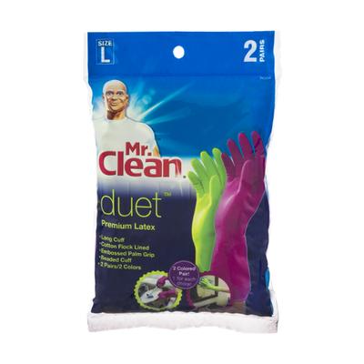 Mr. Clean Gloves, Premium Latex, Large