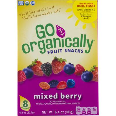 Go Organically Fruit Snacks Mixed Berry