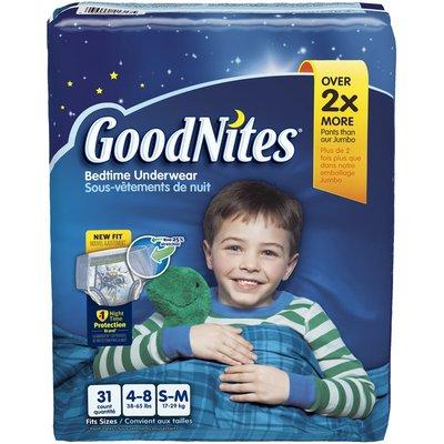 GoodNites Boy's Small/Medium Bedtime Underwear