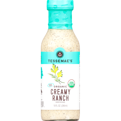 Tessemae's All Natural Dressing, Organic, Creamy Ranch