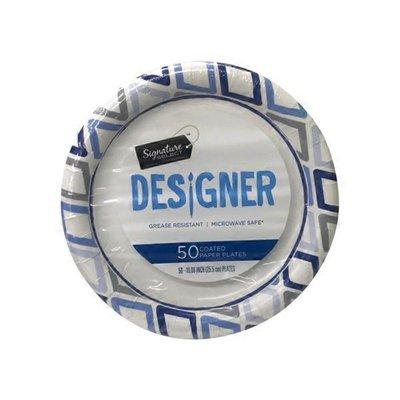 """Signature Home 10.25"""" Paper Coated Designer Plates"""