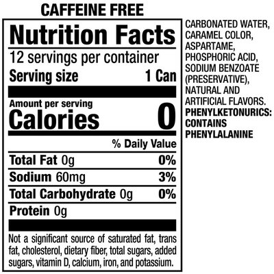Caffeine Free Diet Dr Pepper Soda